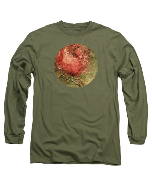 Long Sleeve T-Shirt featuring the painting Textured Rose Art by Mary Wolf
