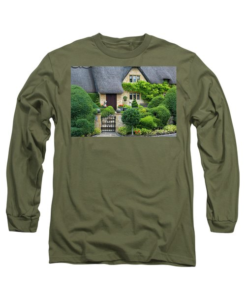Long Sleeve T-Shirt featuring the photograph Thatch Roof Cottage Home by Brian Jannsen