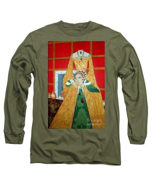 The 5th, Beheaded -- Tudor Portrait, Catherine Howard, #3 In Famous Flirts Series Long Sleeve T-Shirt