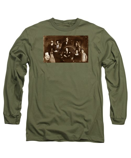 The Addams Family Sepia Version Long Sleeve T-Shirt