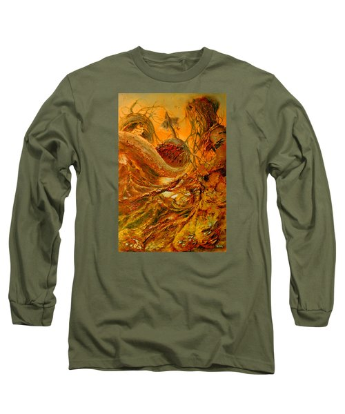 Long Sleeve T-Shirt featuring the painting The Alchemist by Henryk Gorecki