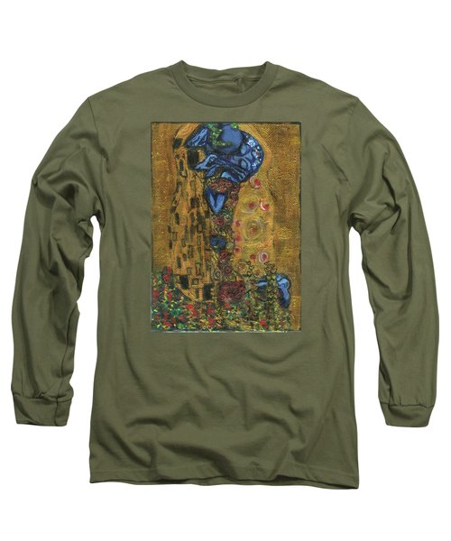 The Alien Kiss By Blastoff Klimt Long Sleeve T-Shirt by Similar Alien