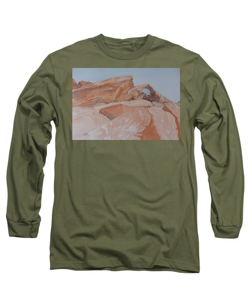 Long Sleeve T-Shirt featuring the painting The Arch Rock Experiment - Vii by Joel Deutsch