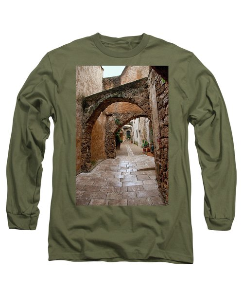 The Archways Of Villecroz Long Sleeve T-Shirt by Jacqi Elmslie