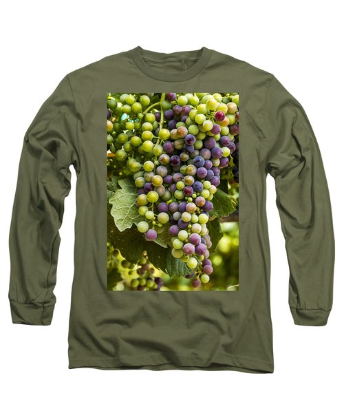 The Art Of Wine Grapes Long Sleeve T-Shirt