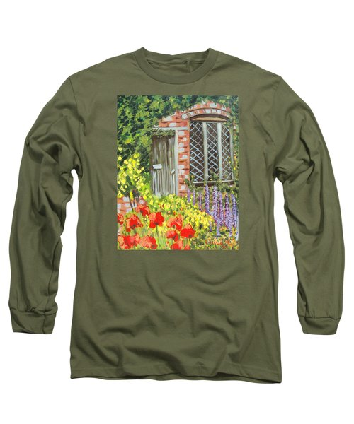The Artist's Cottage Long Sleeve T-Shirt by Laurie Morgan