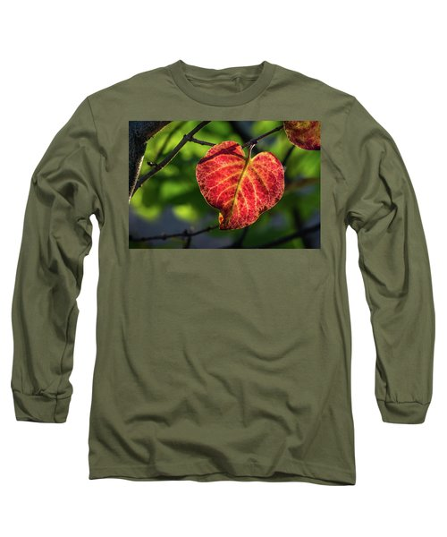 Long Sleeve T-Shirt featuring the photograph The Autumn Heart by Bill Pevlor