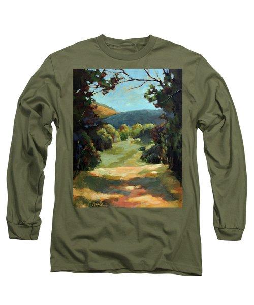 The Backroads - Original Oil On Canvas Summer Landscape  Long Sleeve T-Shirt
