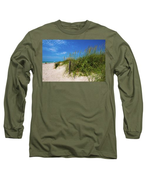 Long Sleeve T-Shirt featuring the photograph The Beach At Pine Knoll Shores by John Harding