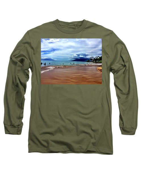 Long Sleeve T-Shirt featuring the photograph The Beach by Michael Albright
