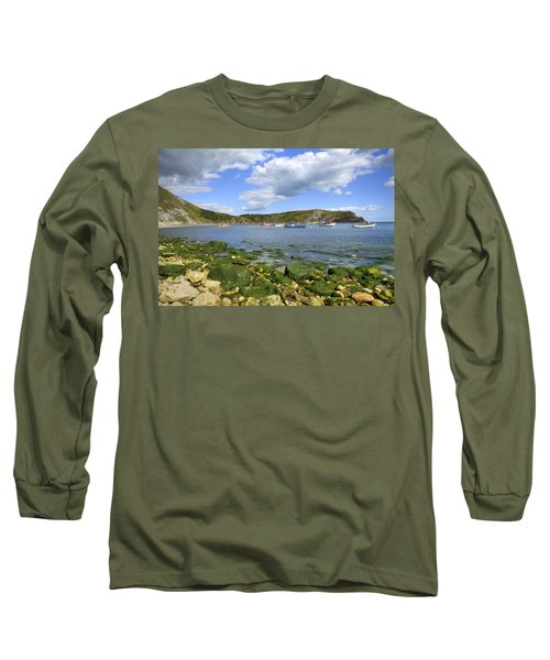 Long Sleeve T-Shirt featuring the photograph The Beauty Of Lulworth Cove by Ian Middleton