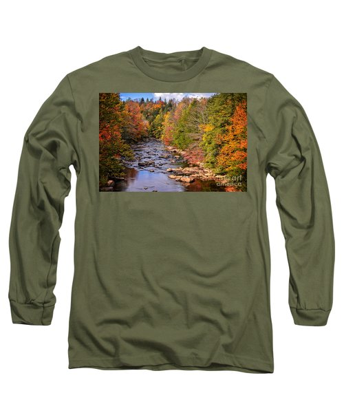 The Blackwater River In Autumn Color Long Sleeve T-Shirt