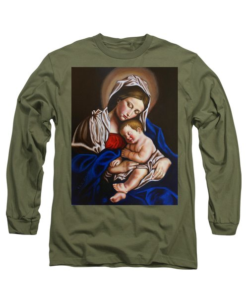 The Blessed Mother And The Infant Jesus Long Sleeve T-Shirt