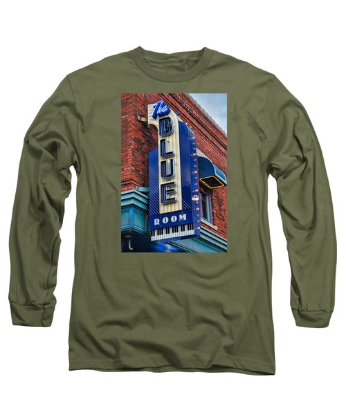 The Blue Room Sign Long Sleeve T-Shirt by Steven Bateson