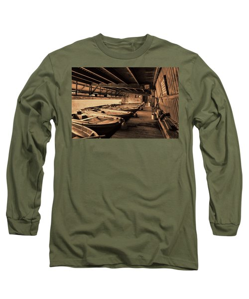 Long Sleeve T-Shirt featuring the photograph The Boat House  by Scott Carruthers