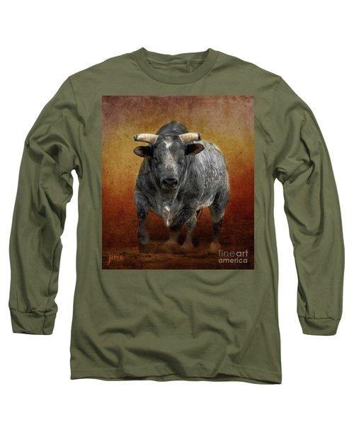 The Bull Long Sleeve T-Shirt by Jim  Hatch