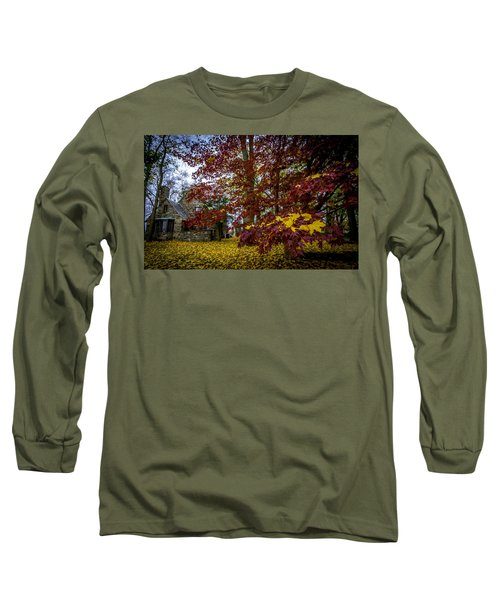 The Cabin In Autumn Long Sleeve T-Shirt