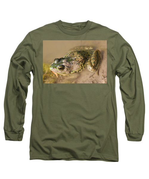The Camouflage Frog Long Sleeve T-Shirt by Lisa DiFruscio
