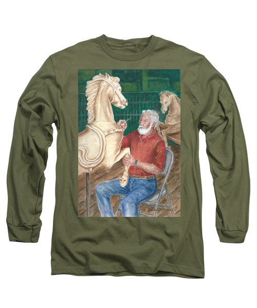 The Carver And His Horse Long Sleeve T-Shirt