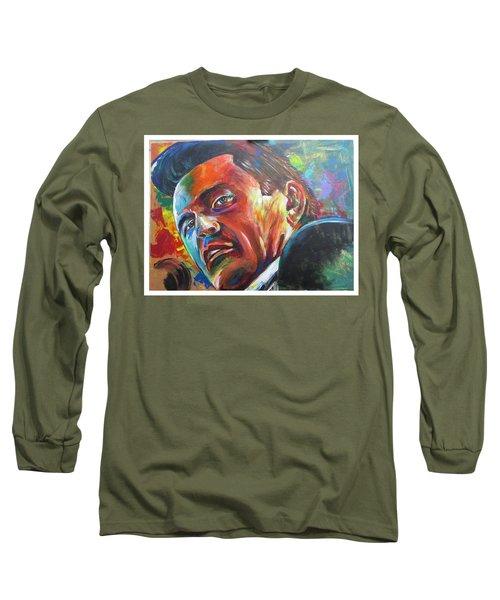 The Cash Man Long Sleeve T-Shirt by Ken Pridgeon