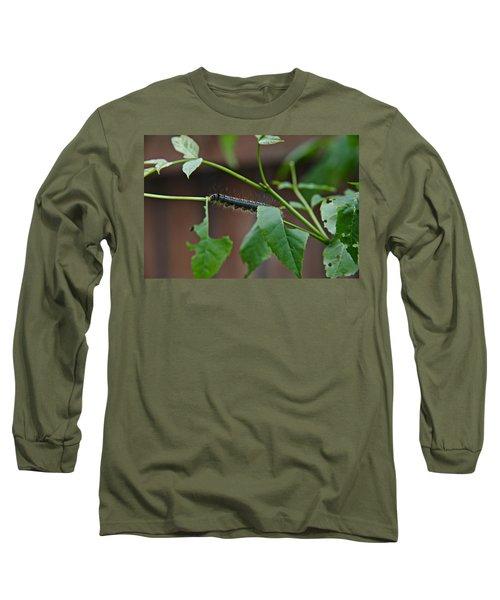 Long Sleeve T-Shirt featuring the photograph The Caterpillar 2 by Cendrine Marrouat