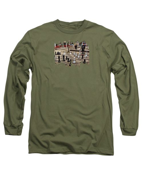 The Chess Match In Portland Long Sleeve T-Shirt