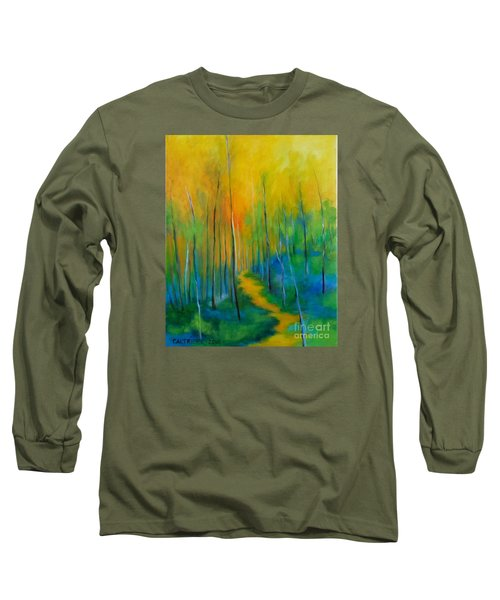 Long Sleeve T-Shirt featuring the painting The Chosen Path  by Alison Caltrider