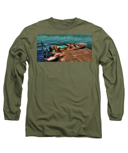 The Chris Craft Continental - 1958 Long Sleeve T-Shirt by David Patterson