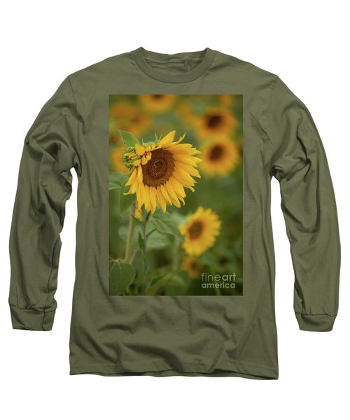 The Close Up Of Sunflowers Long Sleeve T-Shirt