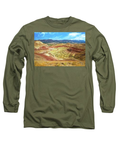 The Colorful Painted Hills In Eastern Oregon Long Sleeve T-Shirt