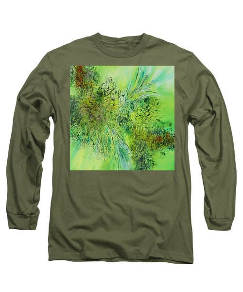 Abstract Art - The Colors Of Spring Long Sleeve T-Shirt