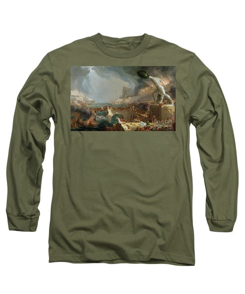 The Course Of Empire - Destruction Long Sleeve T-Shirt