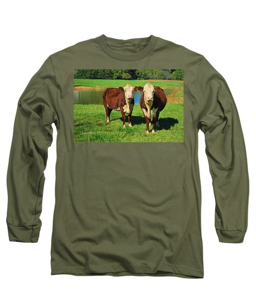 The Cow Girls Long Sleeve T-Shirt by Sandi OReilly