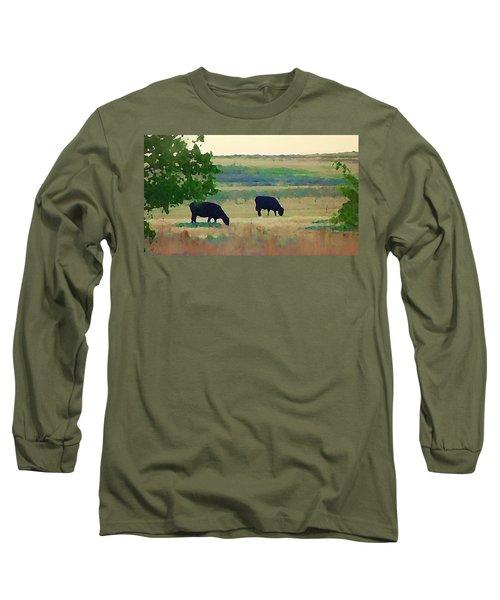 The Cows Next Door Long Sleeve T-Shirt
