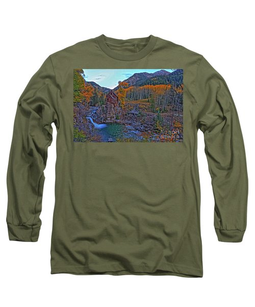 Long Sleeve T-Shirt featuring the photograph The Crystal Mill by Scott Mahon