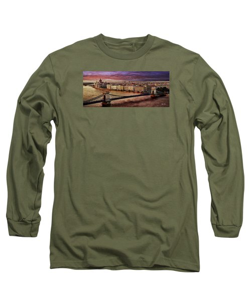 The Danube River In Budapest Long Sleeve T-Shirt