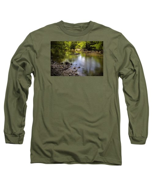 Long Sleeve T-Shirt featuring the photograph The Devon River by Jeremy Lavender Photography