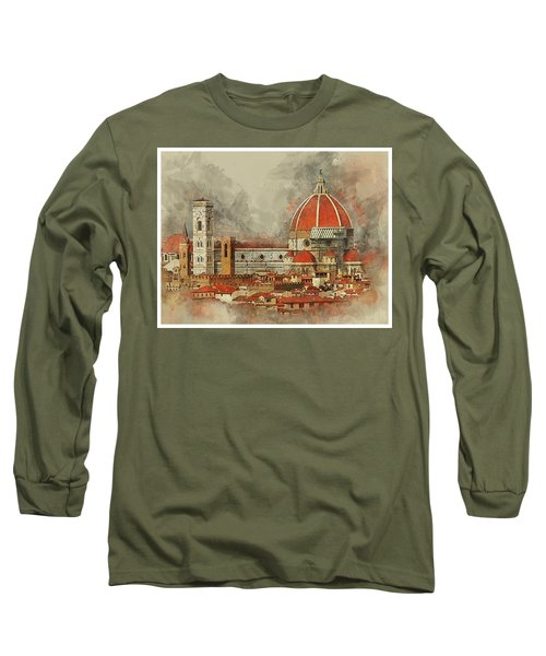 The Duomo Florence Long Sleeve T-Shirt by Brian Tarr