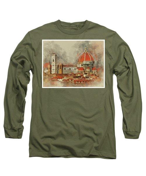 The Duomo Florence Long Sleeve T-Shirt