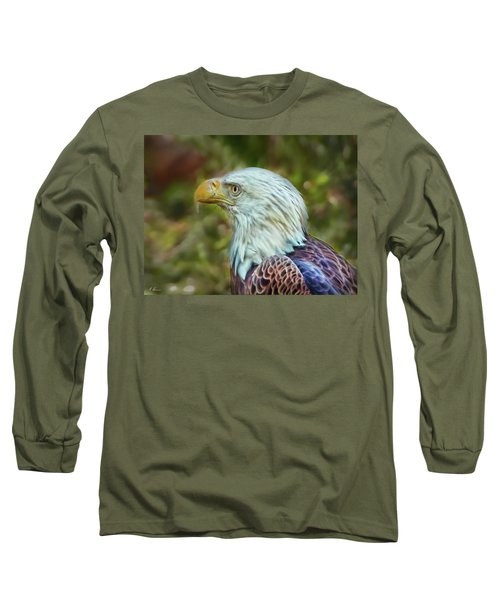 Long Sleeve T-Shirt featuring the photograph The Eagle Look by Hanny Heim