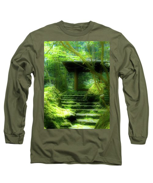 The Emerald Stairs Long Sleeve T-Shirt by Tim Ernst