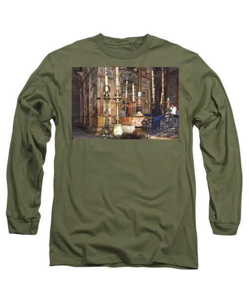 Long Sleeve T-Shirt featuring the photograph The Empty Tomb Of Christ by Mae Wertz