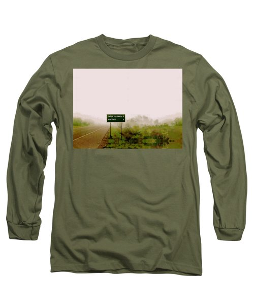 The End Of The Earth Long Sleeve T-Shirt by Sam Sidders
