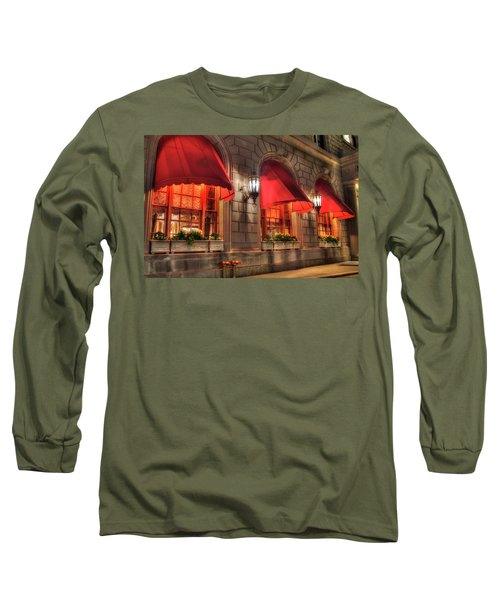 Long Sleeve T-Shirt featuring the photograph The Fairmont Copley Plaza Hotel - Boston by Joann Vitali