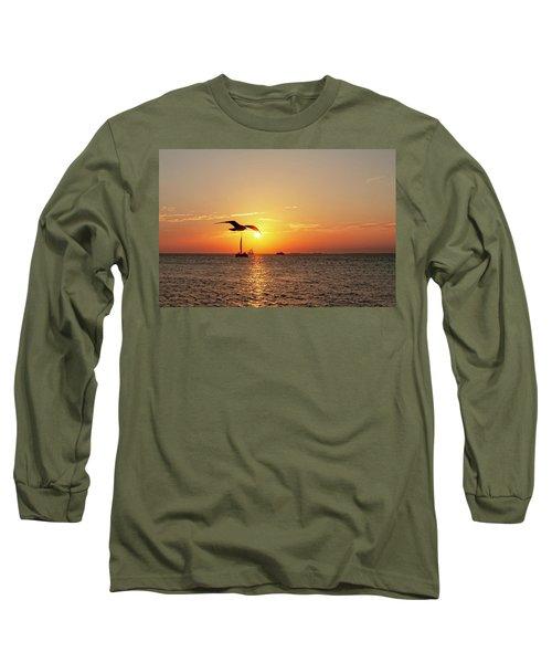 The Famous Key West Sunset  Long Sleeve T-Shirt
