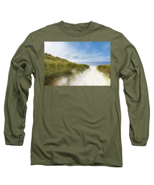 Long Sleeve T-Shirt featuring the photograph The First Look At The Sea by Hannes Cmarits
