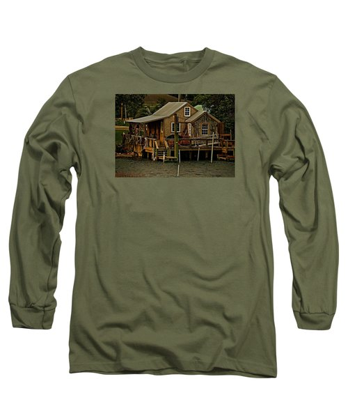 The Fishing Shack Long Sleeve T-Shirt by John Harding