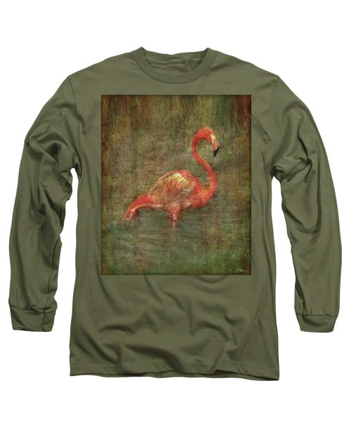 Long Sleeve T-Shirt featuring the photograph The Flamingo by Hanny Heim