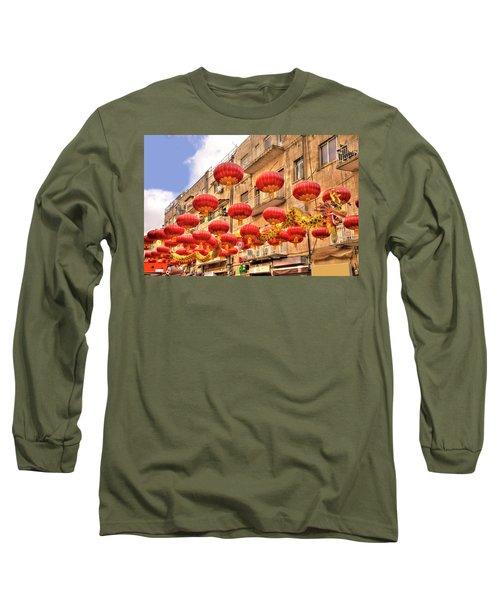 The Flying Dragon Long Sleeve T-Shirt by Uri Baruch