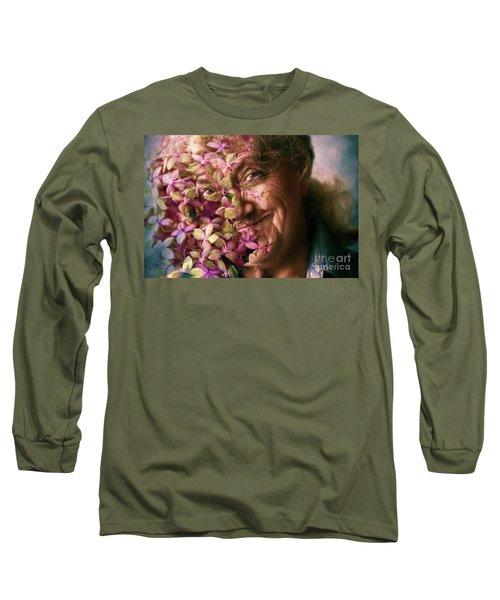 The Gardener Long Sleeve T-Shirt by Jean OKeeffe Macro Abundance Art
